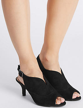 Suede Stiletto High Vamp Sandals, BLACK, catlanding