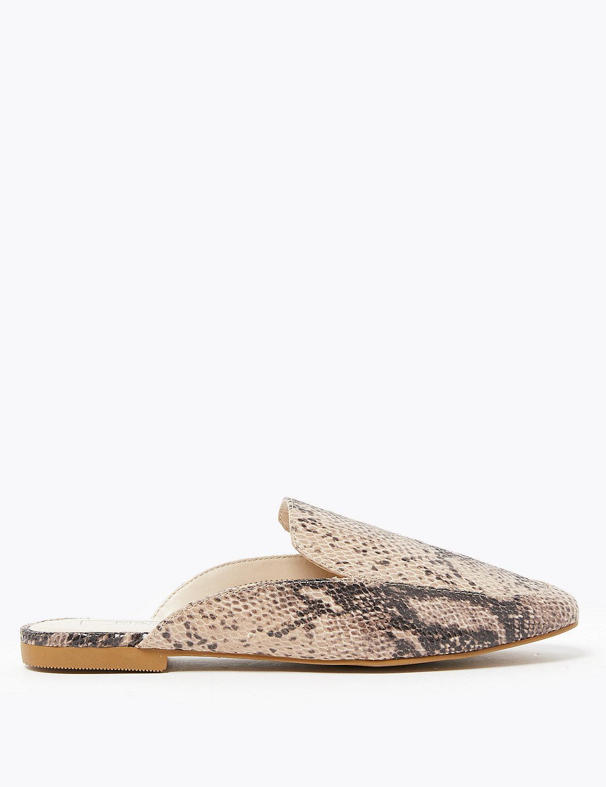 Туфли мюли миндалевидной формы с открытой пяткой