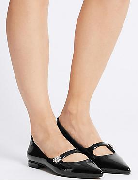 Point Pump Shoes, BLACK, catlanding