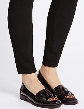 Tassel Loafers, BLACK MIX, catlanding