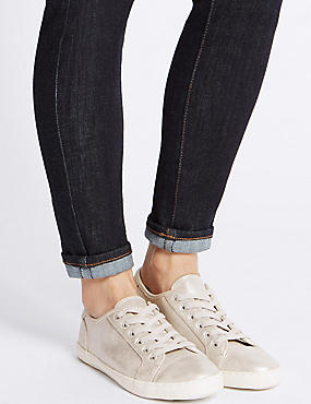 Lace-up Trainers, METALLIC, catlanding