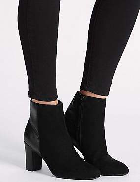 Clean Ankle boot with Insolia®, BLACK MIX, catlanding