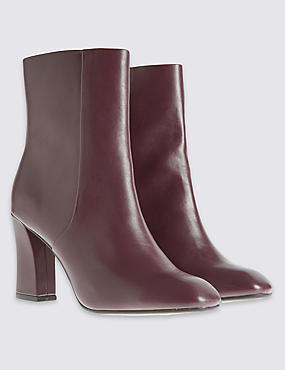 Angular Heel Sleek Ankle boots with Insolia®, WINE, catlanding