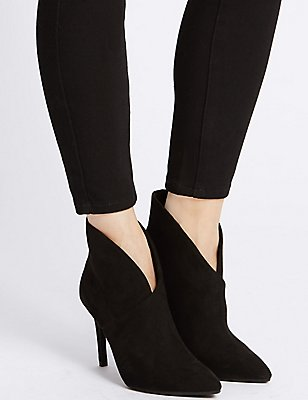 Stiletto Fold Over Ankle Boots , BLACK, catlanding