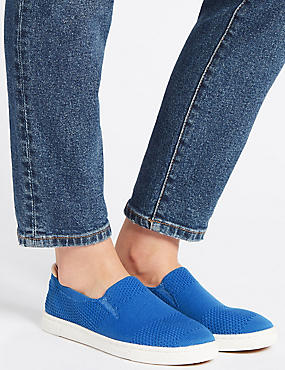 Knitted Trainers, BLUE, catlanding