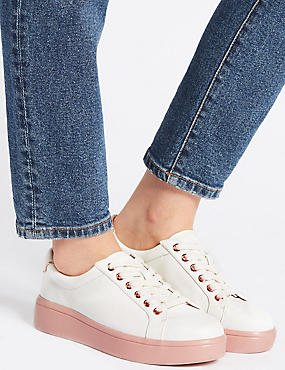 Lace-up Trainers, WHITE MIX, catlanding