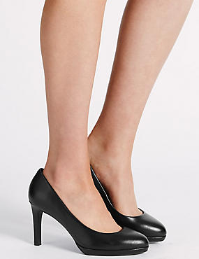 Wide Fit Stiletto Court Shoes with Insolia®, BLACK, catlanding