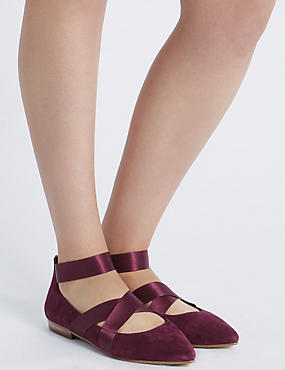 Wide Fit Suede Point Pump Shoes, BERRY, catlanding