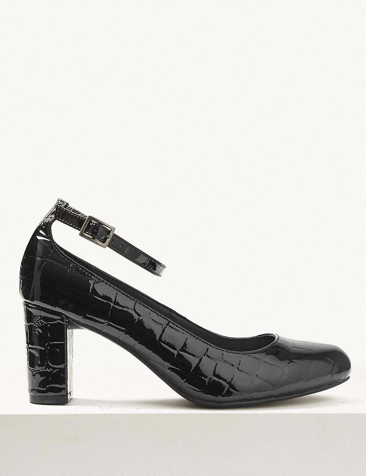 Туфли на каблуке для широкой стопы
