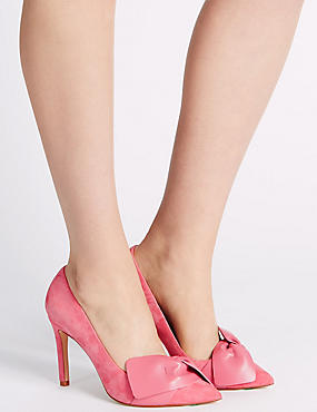 Suede Stiletto Court Shoes with Insolia®, BUBBLEGUM PINK, catlanding
