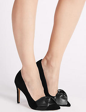 Suede Stiletto Court Shoes with Insolia®, BLACK, catlanding