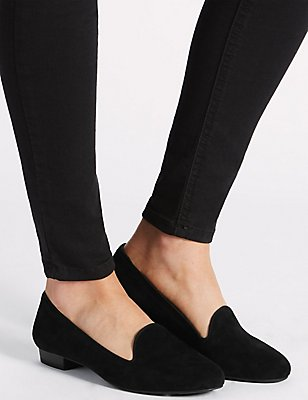 Suede Albert Pump Shoes with Insolia Flex®, BLACK, catlanding