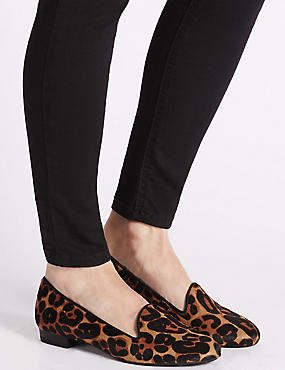 Leather Leopard Print Pumps , BROWN MIX, catlanding