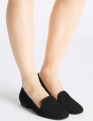 Suede Albert Pump Shoes, BLACK, catlanding