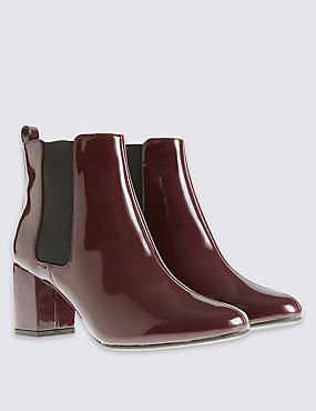 Wide Fit Chelsea Ankle Boots with Insolia®, BURGUNDY, catlanding
