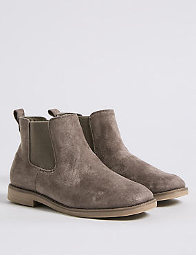Extra Wide Fit Chelsea Ankle Boots , GREY, catlanding