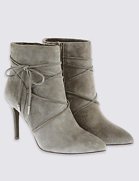 Tie Detail Ankle Boots with Insolia®, GREY, catlanding