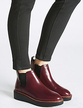 Leather Chelsea Ankle Boots, OXBLOOD, catlanding