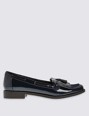 Tassle Loafer Shoes with Insolia Flex®, NAVY, catlanding