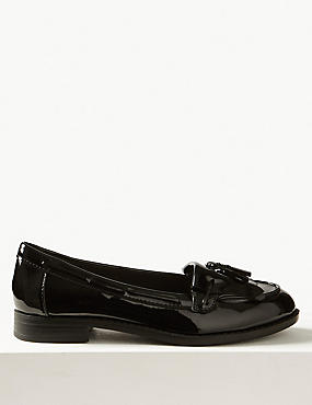 Tassel Loafer Shoes with Insolia Flex®, BLACK PATENT, catlanding
