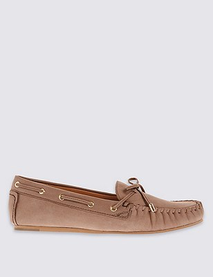 Flat Moccasin Loafers with Insolia Flex®, NEUTRAL, catlanding