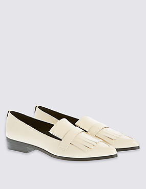 Fringe Point Loafer with Insolia Flex®, CREAM, catlanding