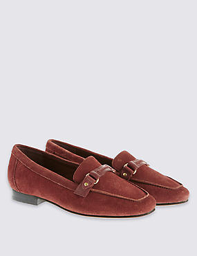 Suede Loafers with Insolia®, RUST, catlanding