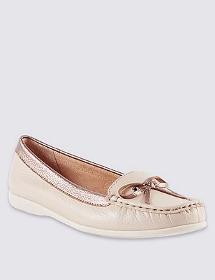 Leather Boat Shoes, ALABASTER, catlanding