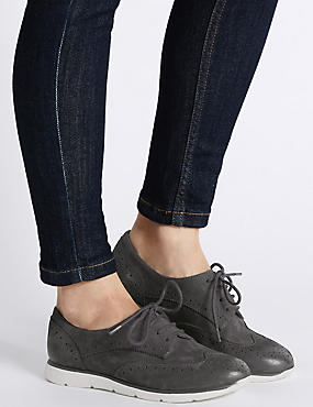 Suede Sporty Lace Up Trainers, NAVY, catlanding