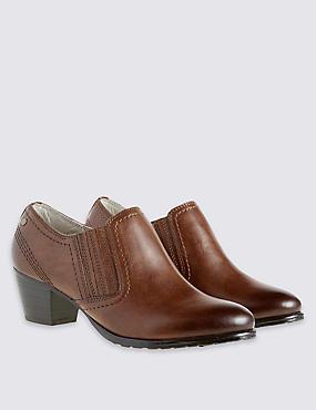 Leather Wide Fit Chelsea Shoe Boots, TAN, catlanding