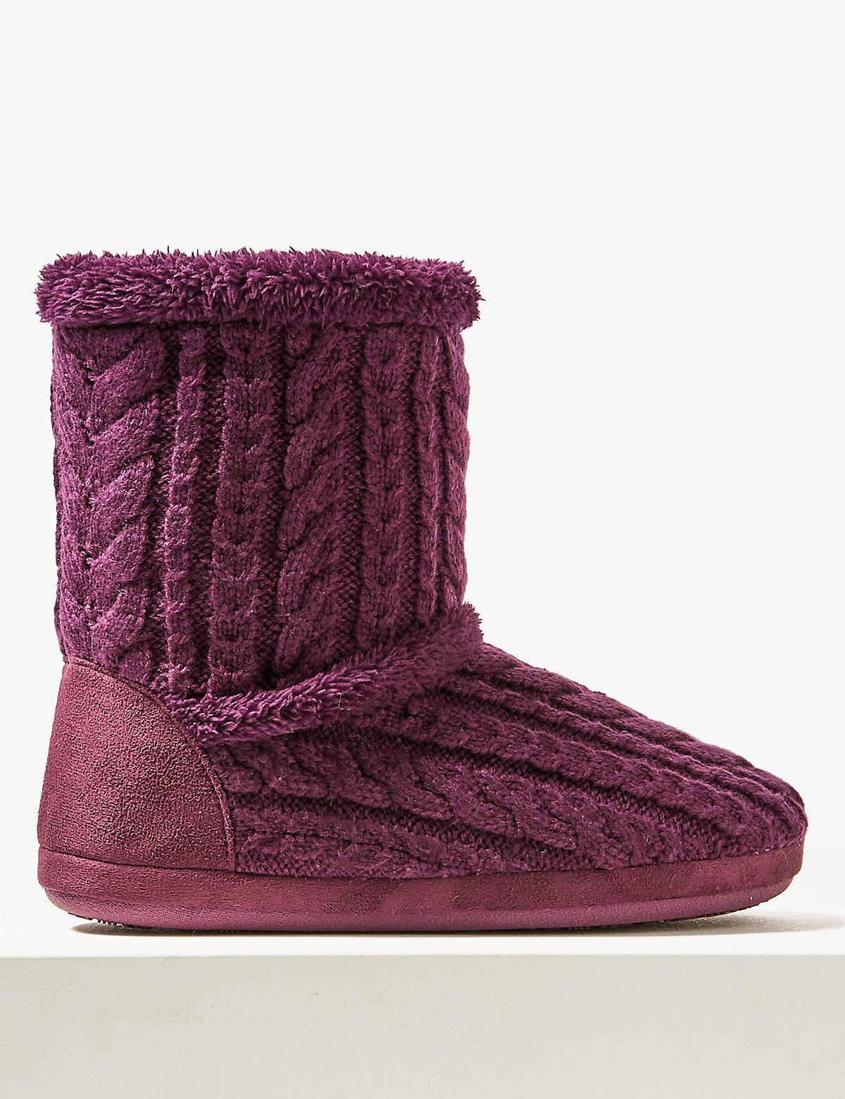 Тапочки ботинки вязаные с узором