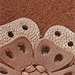 Wide Fit Leather Flower Sandals, TAN, swatch