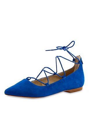 Pointed Ghillie Pumps with Insolia Flex®, COBALT, catlanding