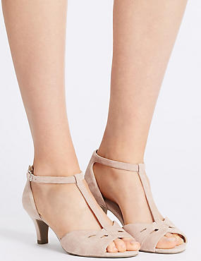 Wide Fit Suede Stiletto Sandals, DUSKY PINK, catlanding
