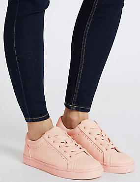 Punch Hole Trainers , PINK, catlanding