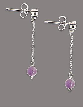 Sterling Silver Pastel Drop Earrings, , catlanding