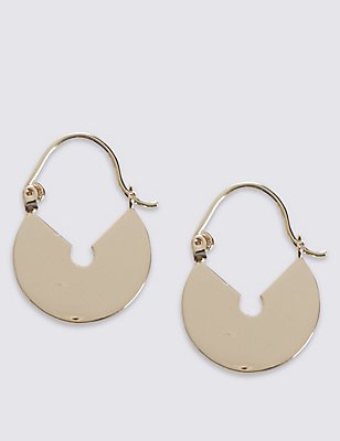 Padlock Hoop Earrings, , catlanding