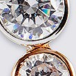 Sterling Silver Cascade Drop Earrings with Rose Gold Plating & Cubic Zirconia, ROSE MIX, swatch