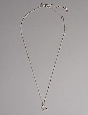 Sterling Silver Heart Necklace, , catlanding