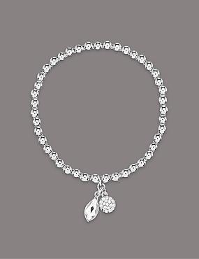 Bracelet à double pendentif MADE WITH SWAROVSKI® ELEMENTS, , catlanding