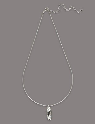 Clean Drop Necklace MADE WITH SWAROVSKI® ELEMENTS, , catlanding