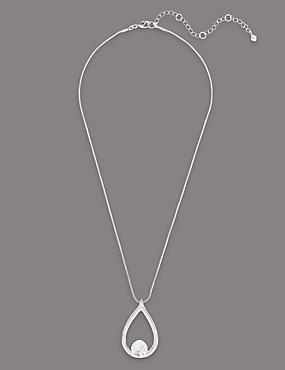 Floating Disco Necklace MADE WITH SWAROVSKI® ELEMENTS, , catlanding