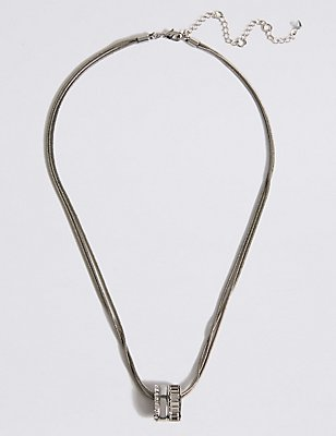 Baguette Striped Necklace MADE WITH SWAROVSKI® ELEMENTS, , catlanding