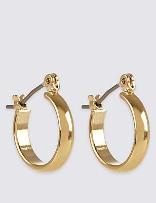 Gold Plated Mini Hoop Earrings, , catlanding
