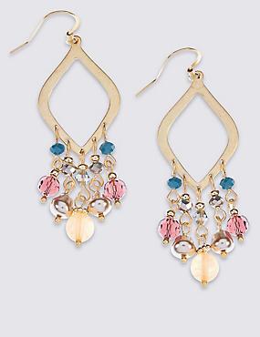 Triangle Bead Earrings, , catlanding