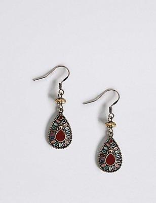Teardrop Earrings, , catlanding