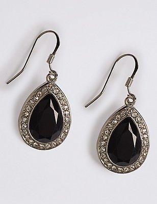 Pave Pear Drop Earrings, , catlanding