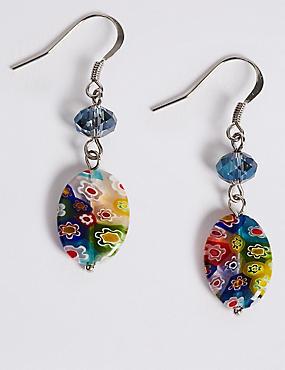 Floral Bead Earrings, , catlanding