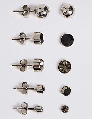 5 Pack of Stud Earrings Set , , catlanding
