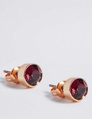 Diamanté Bling Stud Earrings, , catlanding